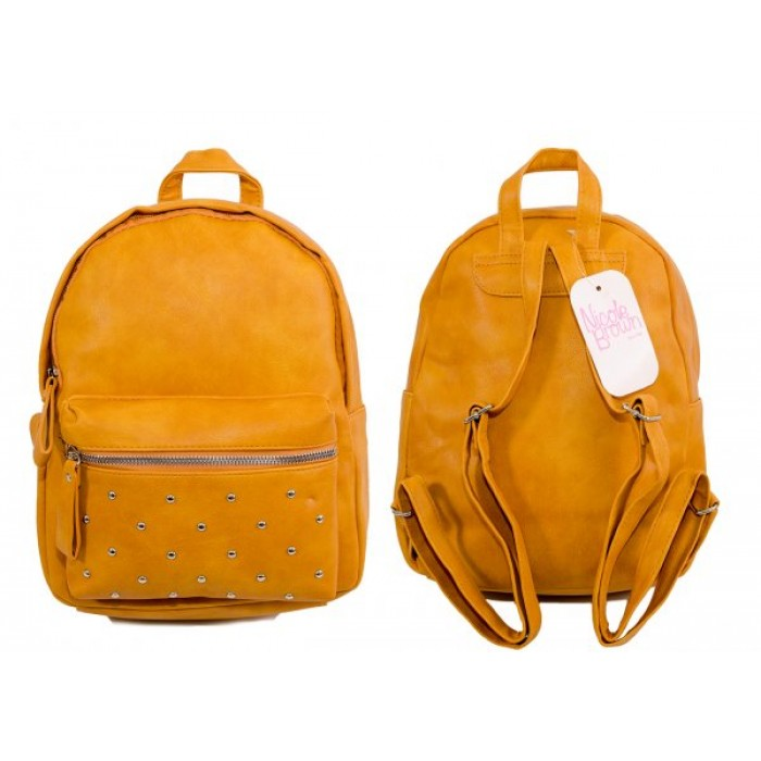 JBFB202 MUSTARD PU BACKPACK