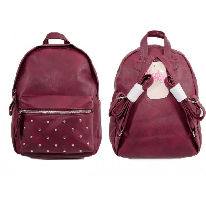 JBFB202 WINE PU BACKPACK