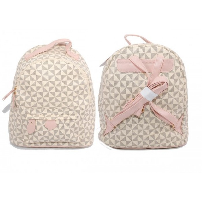 JBFB320 BEIGE PINK NICOLE BROWN BACKPACK