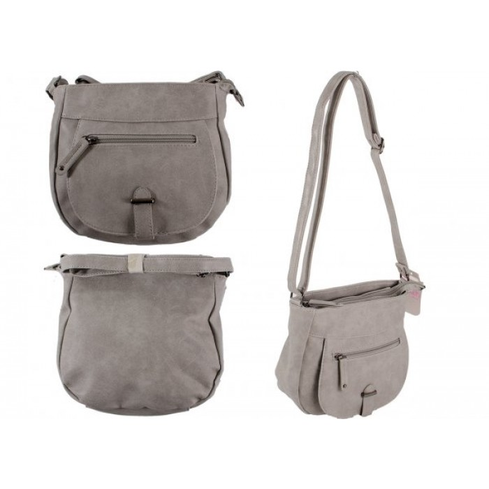 JBHB2561 GREY PU HANDBAG NICOLE BROWN