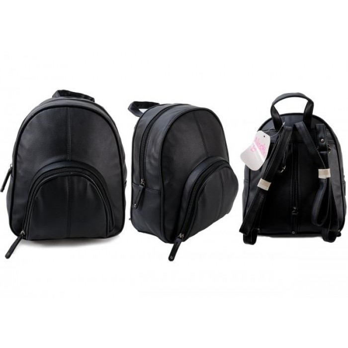 JBHB2563 BLACK PU BACKPACK NICOLE BROWN