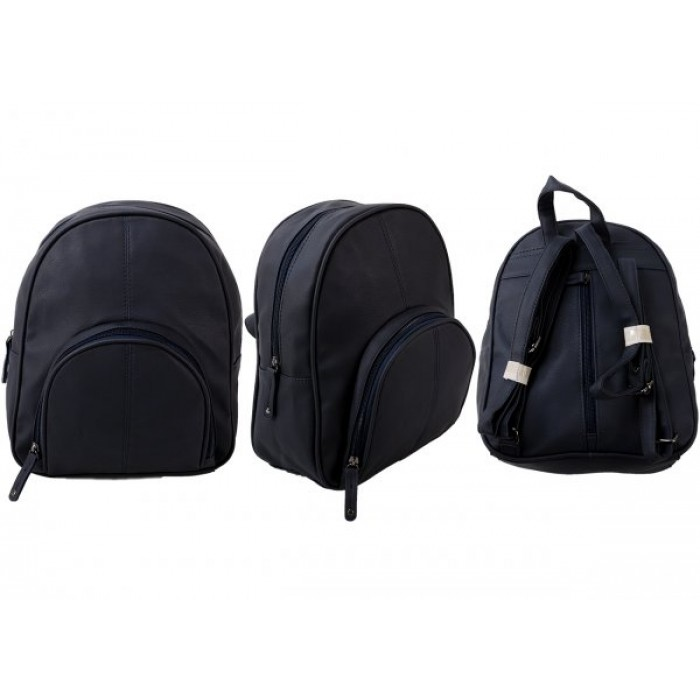 JBHB2563 NAVY PU BACKPACK NICOLE BROWN