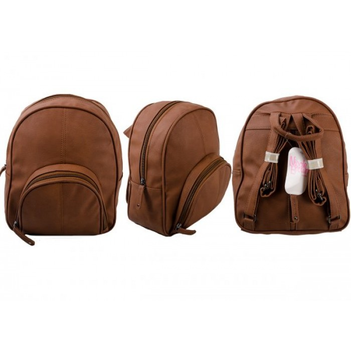JBHB2563 TAN PU BACKPACK NICOLE BROWN