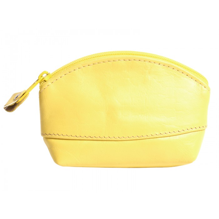 LEATHER COIN PURSE YELLOW 0.50