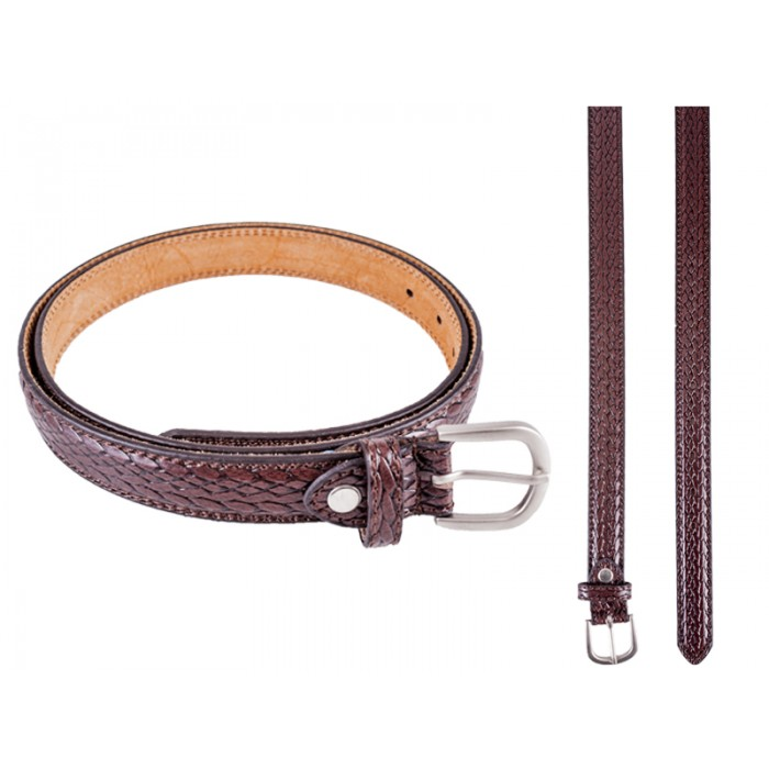 "2700 Brown Belt With Snake Grain - Size XL (40""-44"")"
