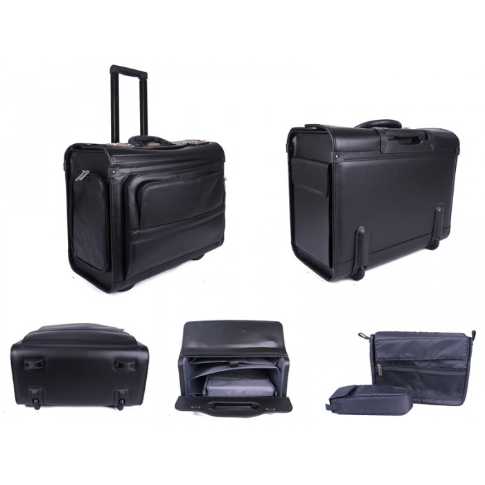 "PC7103 WHEELED PILOT CASE 17.3"" LAPTOP BAG"