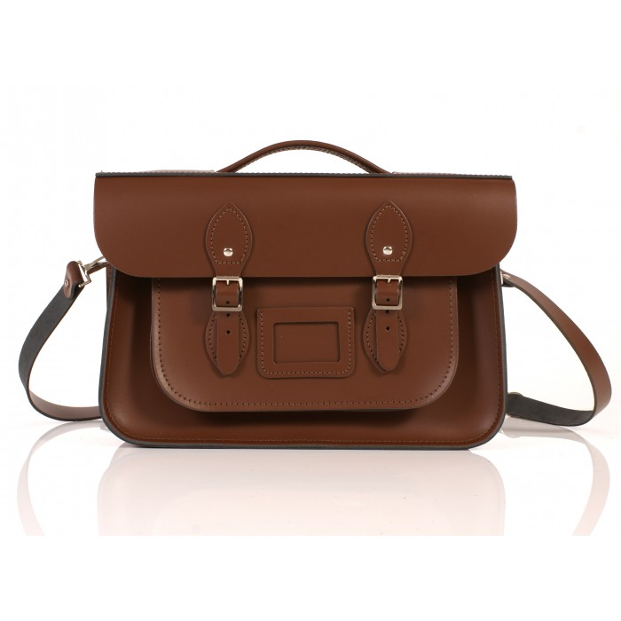 RL14 BRIEFCASE ENGLISH CHESTNUT BROWN 1
