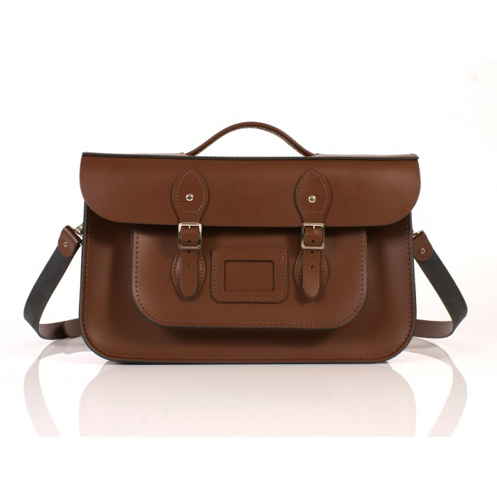RL15 BRIEFCASE ENGLISH CHESTNUT BROWN