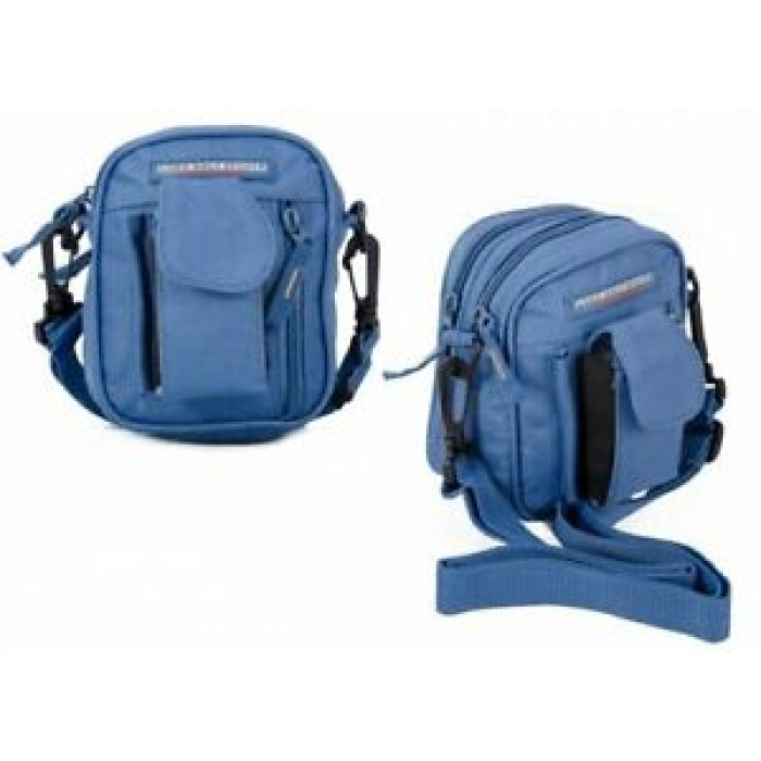 ZL1073 BLUE CROSS BAG WITH 2 ZIPS