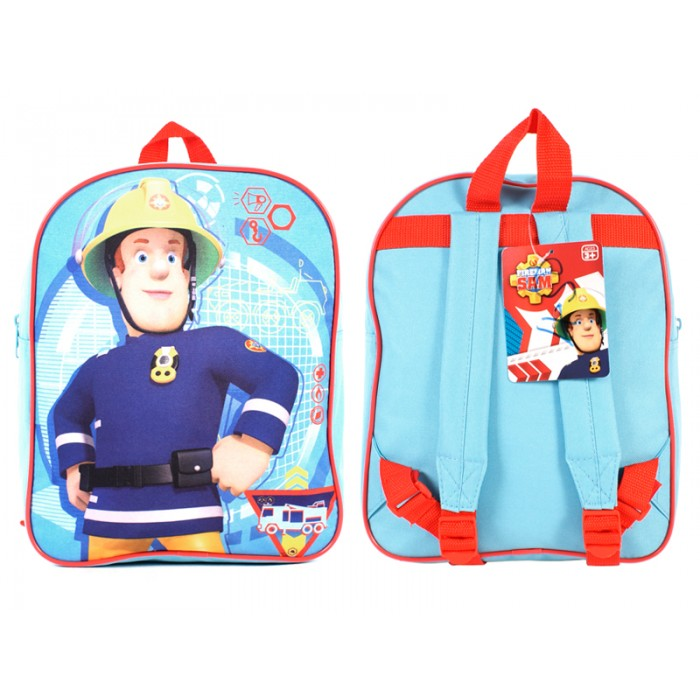 SAM001040  Kids Backpack Sky Blue/Red Fireman Sam