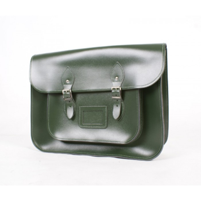 SATCHEL GREEN 14""