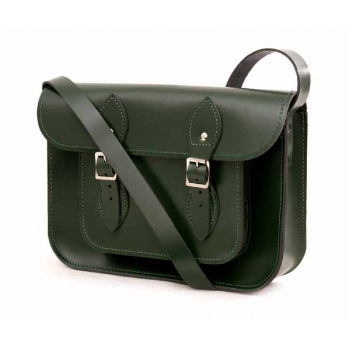 "SATCHEL 11"" GREEN"