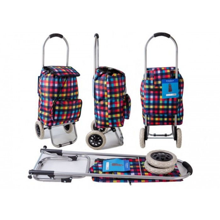 ST-MP-03 MULTI CHECK 2 WHEEL SHOPPING TROLLEY