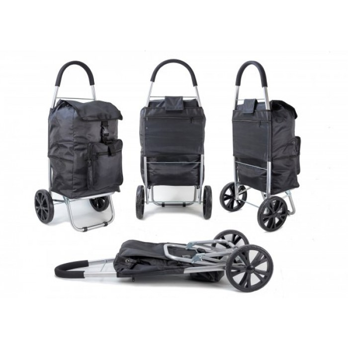 ST 07 COLLAPSABLE SHOPPING TROLLEY 2 WHEELS BLACK