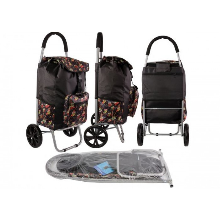 ST 07 COLLAPSABLE SHOPPING TROLLEY 2 WHEELS BLACK OWL