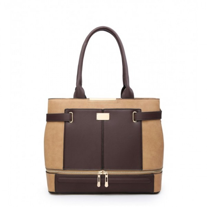 W5097 Shoulder Bag -Apricot/Khaki