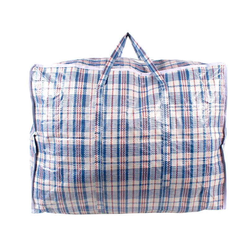 2472 BLUE CHECK LARGE LAUNDRY BAG