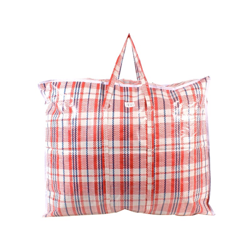 2472 RED CHECK LARGE LAUNDRY BAG
