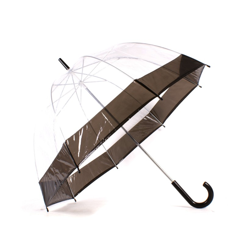 2804 BLACK Clear Pvc Dom Umbrella