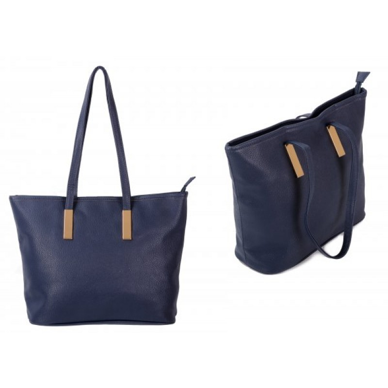 JBFB289 NAVY PU HANDBAG W/1 COMPARTMENT